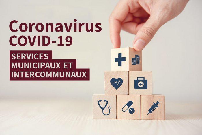 Coronavirus · service minimum et fermeture des services publics