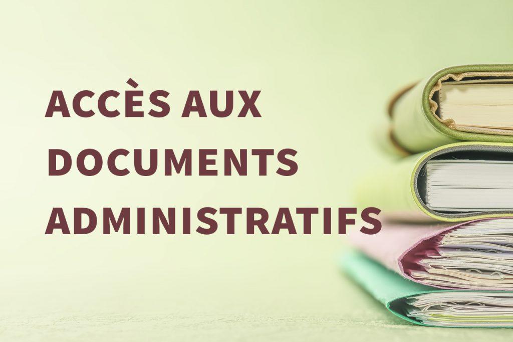 Accès aux documents administratifs (PRADA)