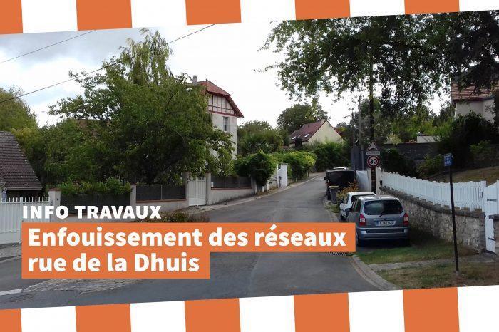 Travaux dans la rue de la Dhuis